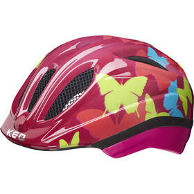 KED Meggy II Trend Helmet Kids butterly/bordeaux